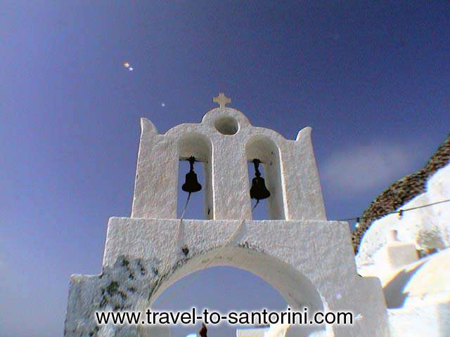 OIA CHURCH - Church bells of a church in Perivolas area in Oia by Alexandros Damigos