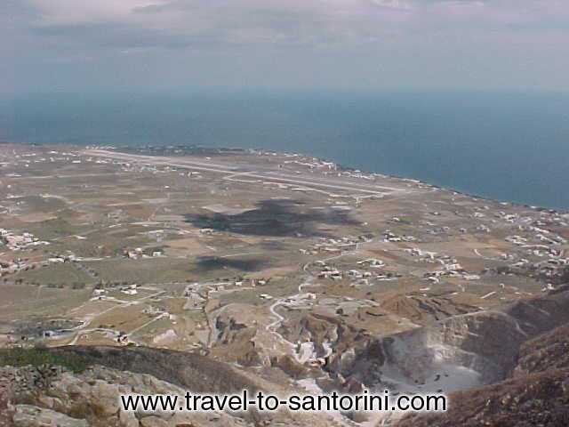 AIRPORT VIEW FROM PYRGOS -