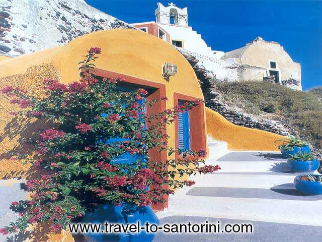 TRADITIONAL HOUSE - A traditional Santorini house, called