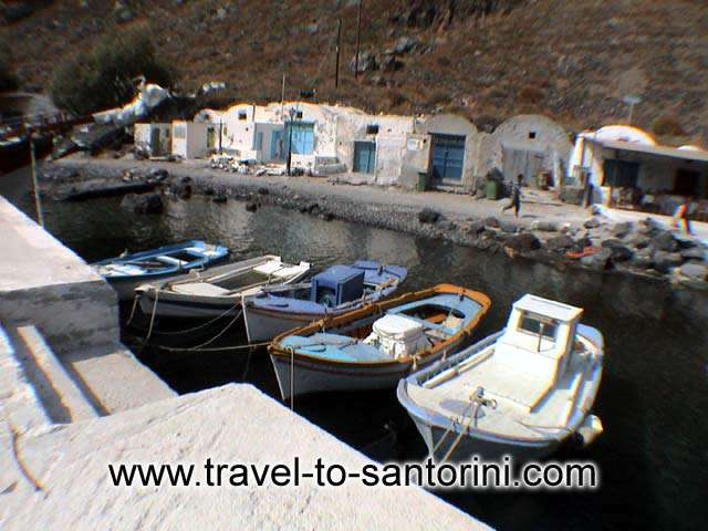 Fishing boats - Fishing boats in the small port of Thirassia by Alexandros Damigos