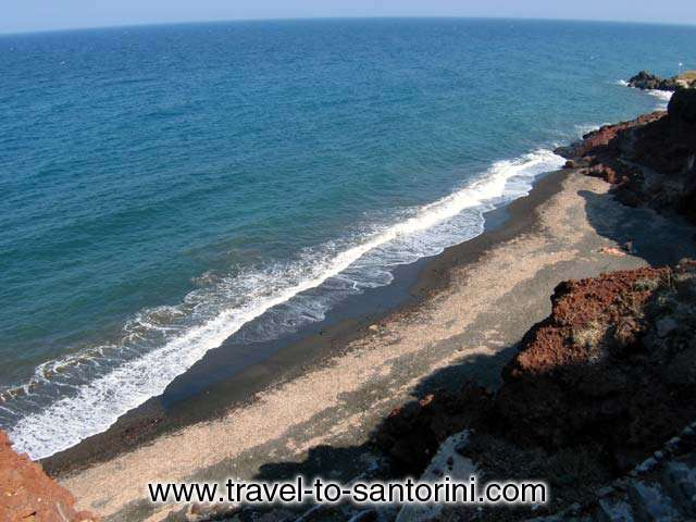 VIEW FROM ABOVE - The view of Pori beach from the road level