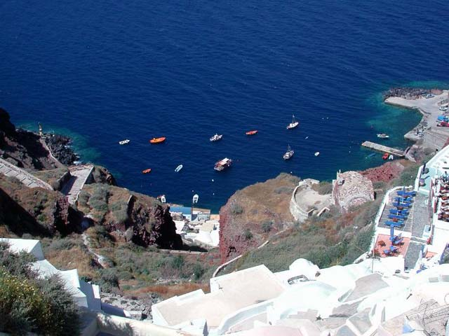 VIEW FROM ABOVE - View of Ammoudi from Oia