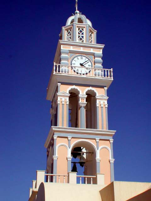 Catholic Church - The Catholic cathedral with the clock that bells every 60 minutes the hours