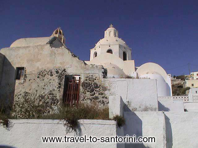 Church in Kontochori (a region in Fira), next to Santorini Folklore Museum SANTORINI PHOTO GALLERY - CHURCH`