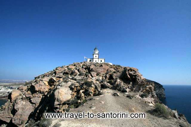 Akrotiri Lighthouse - View of Akrotiri Lighthouse at the southern part of Santorini by Ioannis Matrozos