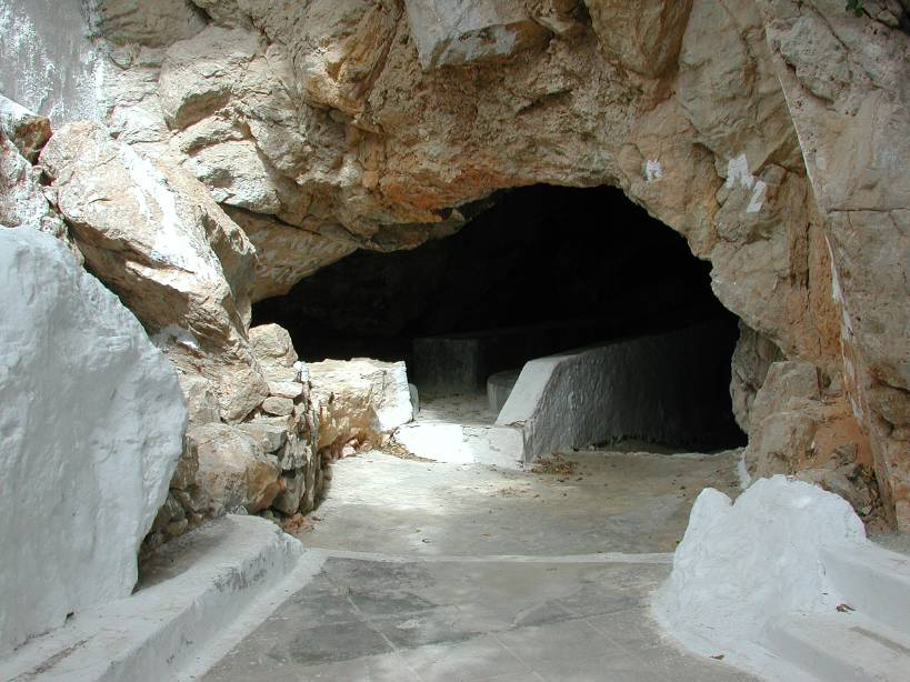 Entrance to Zoodochos Pigi Cave -