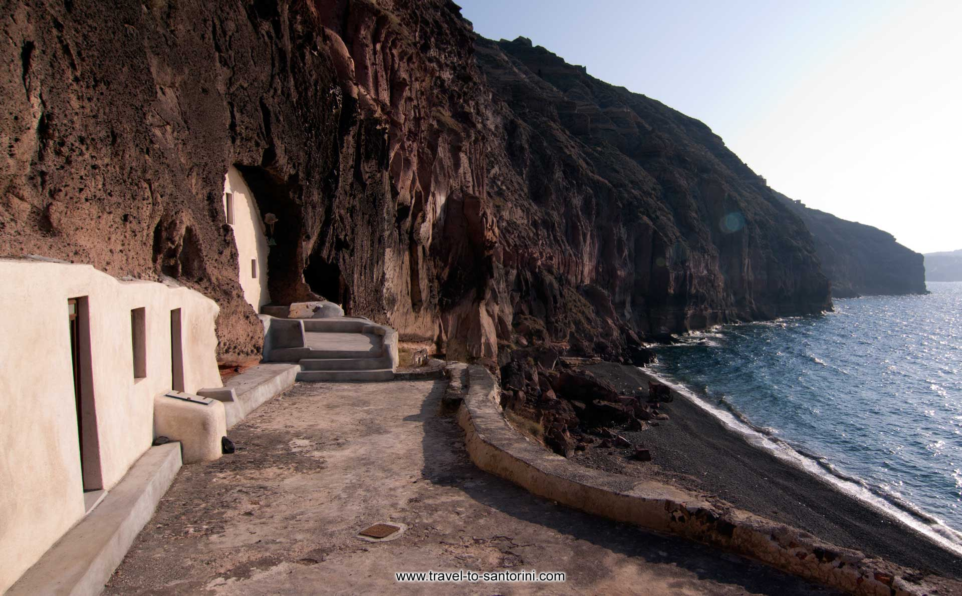 Christos church - View of the church of Christos above the beautiful beach by Ioannis Matrozos