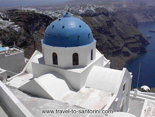 ANASTASI CHURCH - Anastasi (Resurrection) church in Imerovigli. One of the most photographed spots in Santorini.
