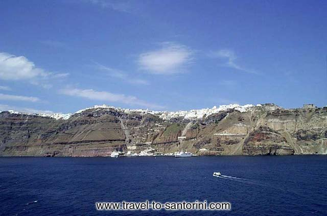 VIEW OF FIRA ATOP THE VOLCANO -