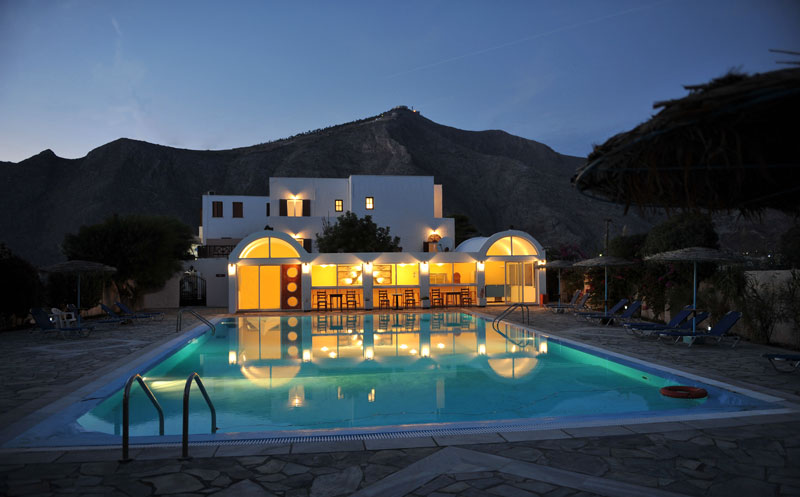 SANTA IRINI HOTEL IN  Perissa Santorini Cyclades islands