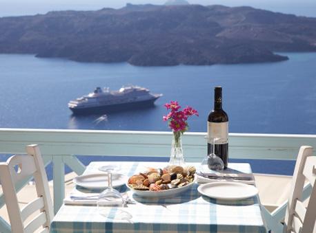 VOLCANO BLUE IN  Fira Santorini Cyclades islands