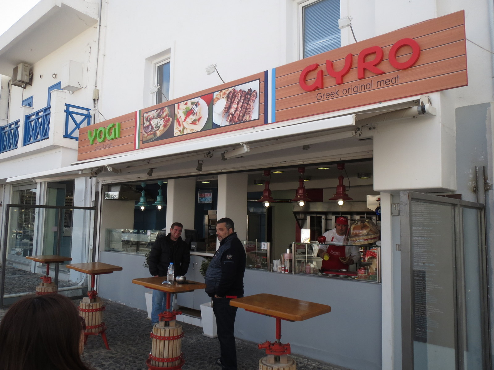 YOGI AND GYRO IN  Fira main square