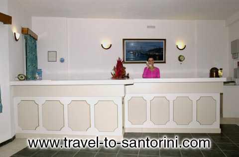 The reception of Scorpoios Beach Villas CLICK TO ENLARGE