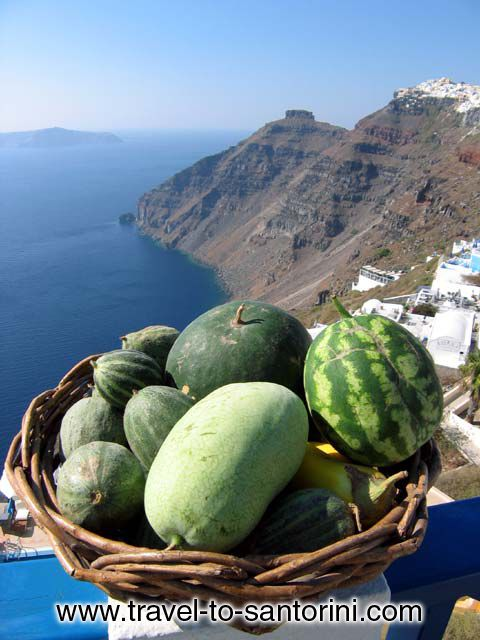 Local products and caldera view... CLICK TO ENLARGE