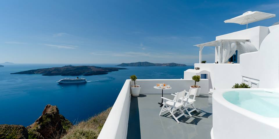 KAMARES APARTMENTS IN  Fira Santorini Cyclades islands