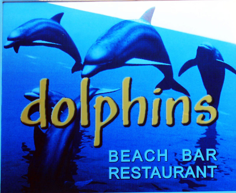 DOLPHINS BEACH BAR RESTAURANT  BEACH BAR IN  Kamari beach