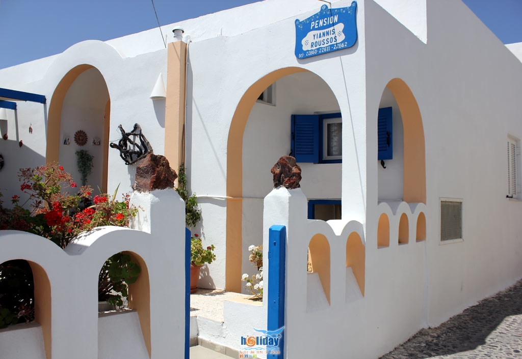 PENSION ROUSSOS IN  Firostefani Santorini Cyclades islands
