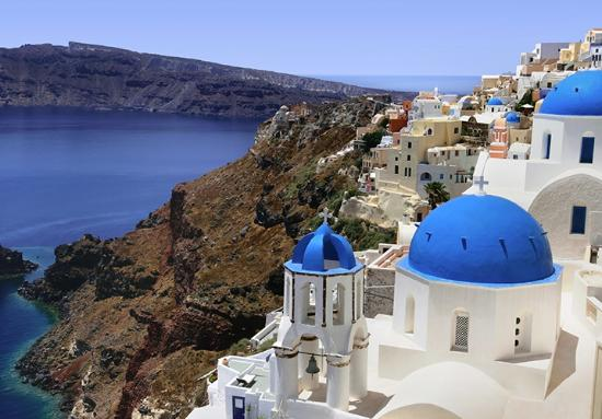 Glamorous Santorini is deliciously different. Geographical newness is in part to thank. The island's popular black volcanic Perissa and Kamari beaches are big draws, as is its arguably most famous Red Beach near Akrotiri (which is the place to go for archaeology buffs). Santorini curves round a gian...