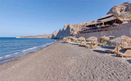 Eros Is Located North Of Vlihada Beach At The South Part Santorini It Can Be Accessed By Car Follow Sign To Theros Bar From Road